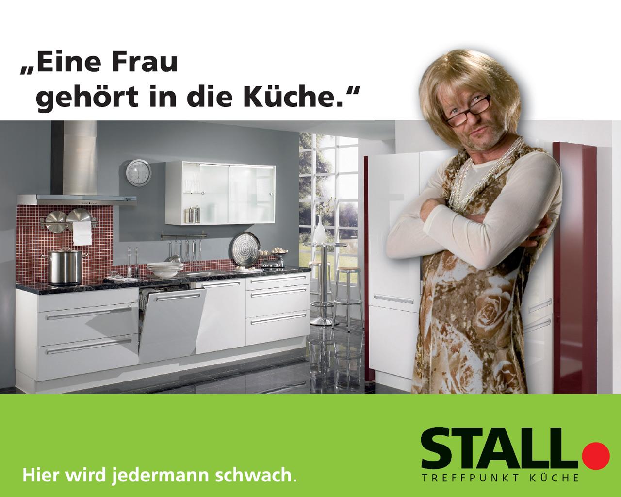 Eine Frau gehört in die Küche